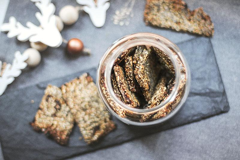 Crackers de semillas sin gluten, receta de terra Veritas