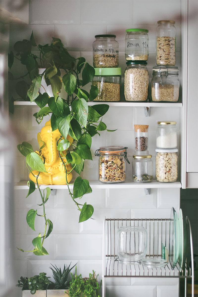 Botes de vidrio para organizar tu compra a granel